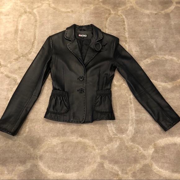 XOXO Jackets & Blazers - XOXO Black Leather Jacket